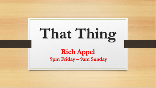 That Thing Rich Appel
