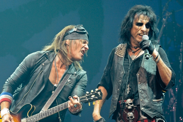 Ryan Roxie (L) and Alice Cooper perform in concert at ACL Live on February 12, 2015 in Austin, Texas.