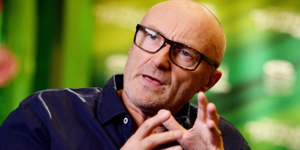 "EXCLUSIVE - British singer, songwriter and producer Phil Collins answers journalists' questions during a dpa-interview in Stuttgart, Germany, 21 November 2013. He wrote the music for the musical ""Tarzan,"" which will premiere at Stage Apollo Theater on 21 November 2013 in Stuttgart. Photo: BERND WEISSBROD"